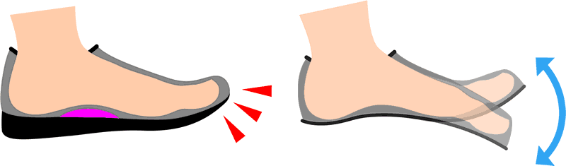 no-toe-spring-arch-support
