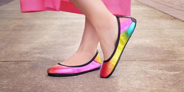 Rainbow Ballerine Flats