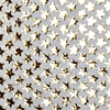 SUEDE Cream with Shiny Gold Stars Leather