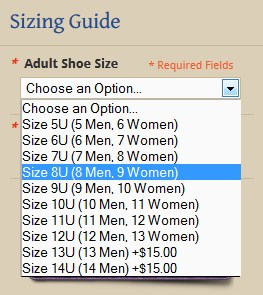 Soft Star Unisex Shoe Sizes