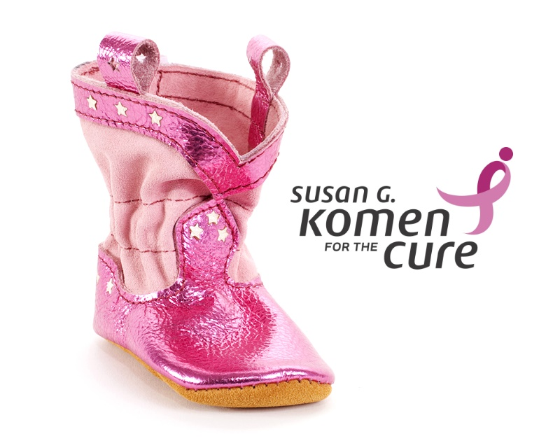 Pink Baby Boots - Race (or crawl) for the Cure!