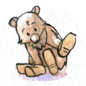 Bear Wearing Clogs