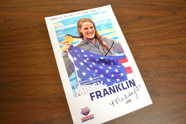 Missy Franklin Thank You
