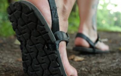 Luna Mono Sandals on the Trail