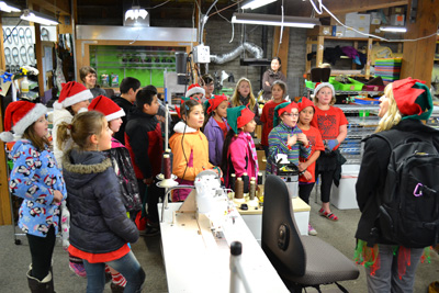 Lincoln School Carolers Spread Holiday Cheer at Soft Star