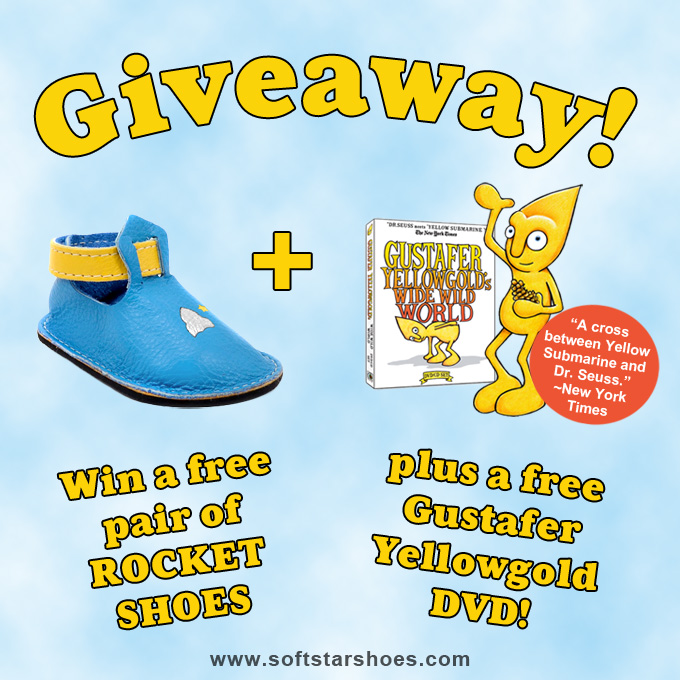New Giveaway: Win a pair of ROCKET SHOES plus a Gustafer Yellowgold Music DVD/CD Set!