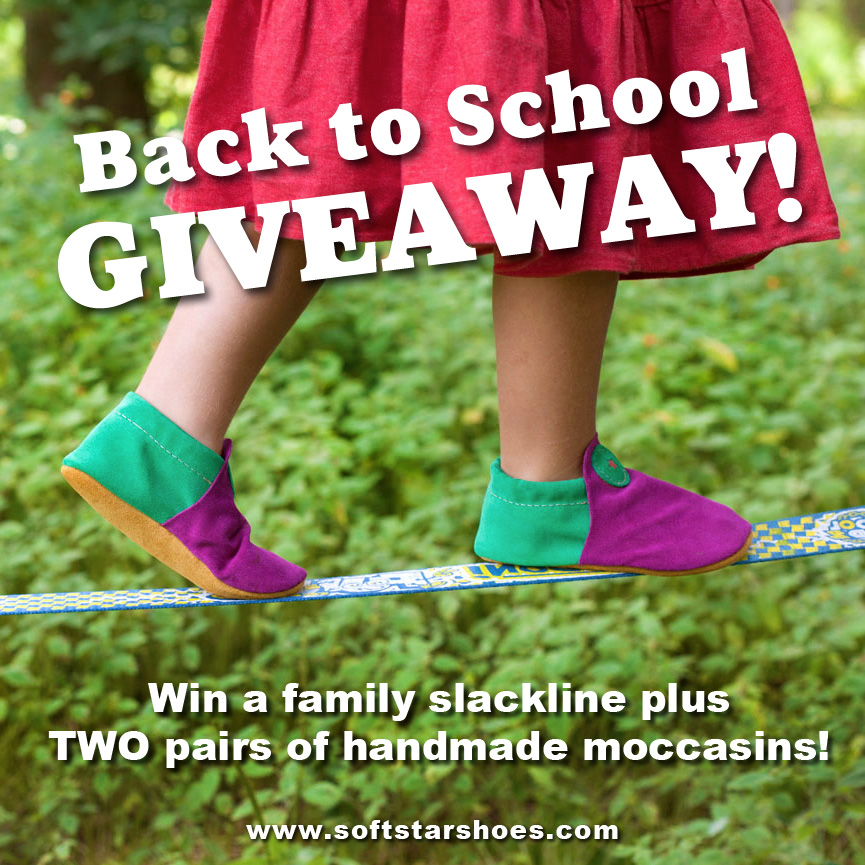 Back-to-School GIVEAWAY - Win a Slackline and Two Pairs of Moccasins!