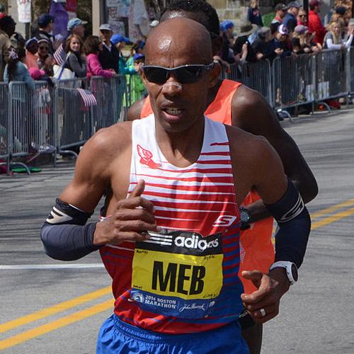 Meb Keflezighi in the 2014 Boston Marathon