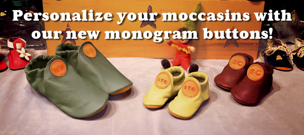 Personalize Your Handmade Moccasins with Monogrammed Leather Initials!