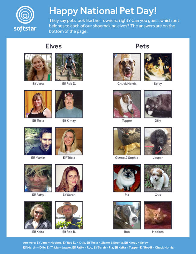Happy National Pet Day! Can You Guess Which Pets Belong to Our Elves?