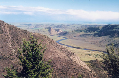 From the mouth of the Lewis and Clark Caverns