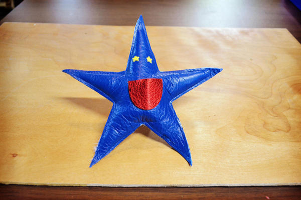 Soft Star Playday - Handmade Leather Tooth Fairy Pillow
