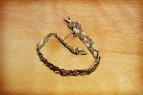 Soft Star Playday - Handmade Braided Leather Hairband