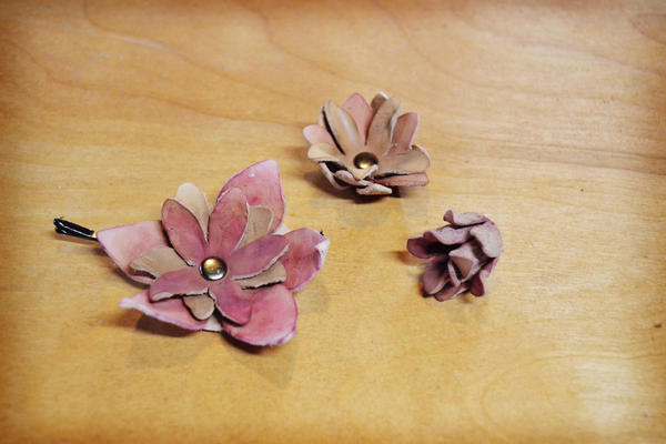 Soft Star Playday - Handmade Leather Flowers