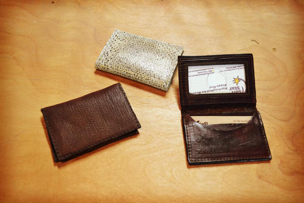 Soft Star Playday - Handmade Leather Wallets, Snakeskin Print and Wild Elk Leather