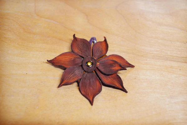 Soft Star Playday - Handmade Leather Flower