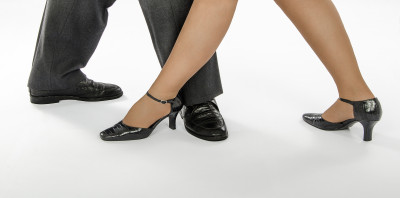 Two Dancers In Pointy Shoes