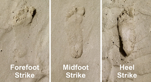 Using sand to analyze your running footstrike