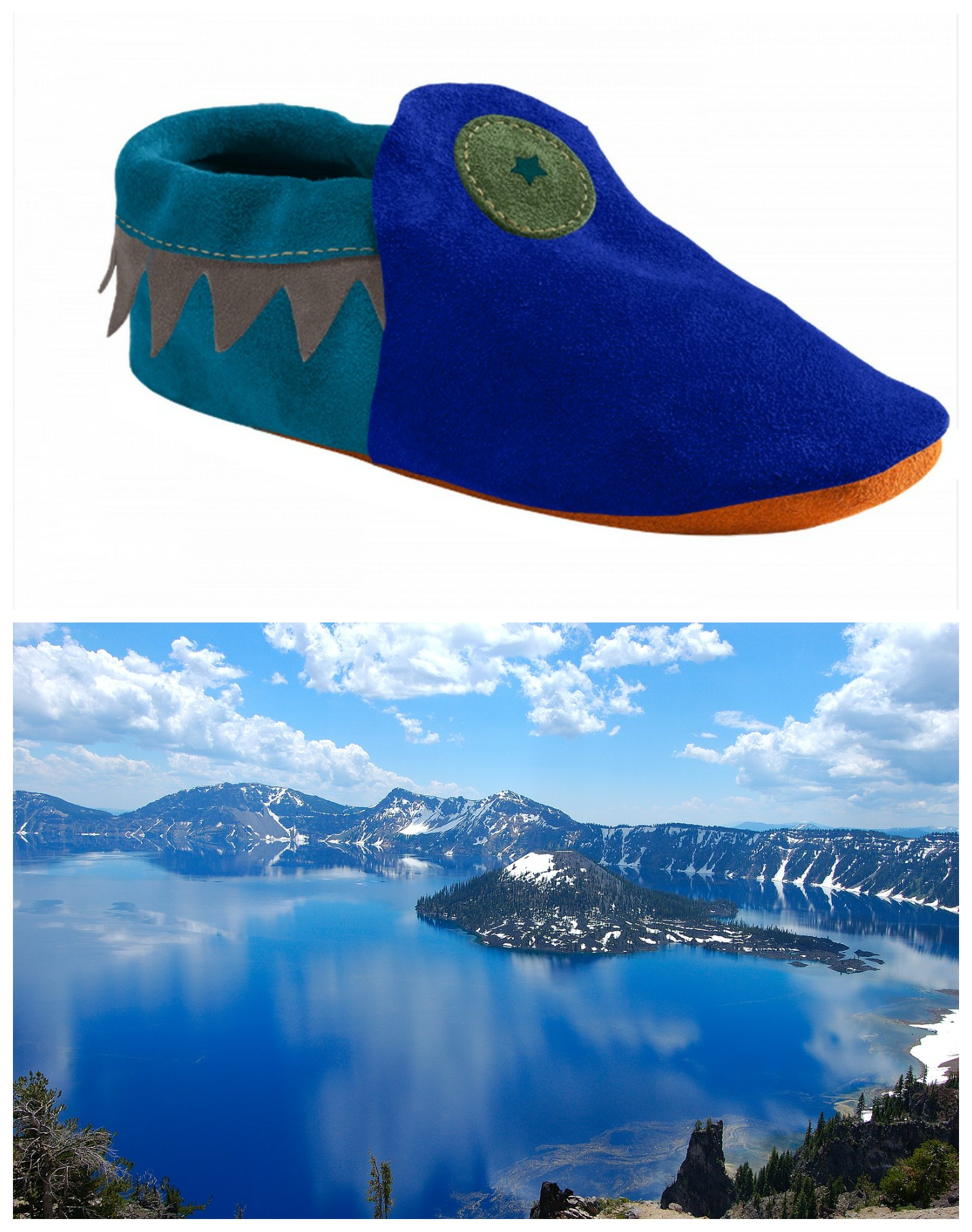 Soft Star Crater Lake-Inspired Moccasin