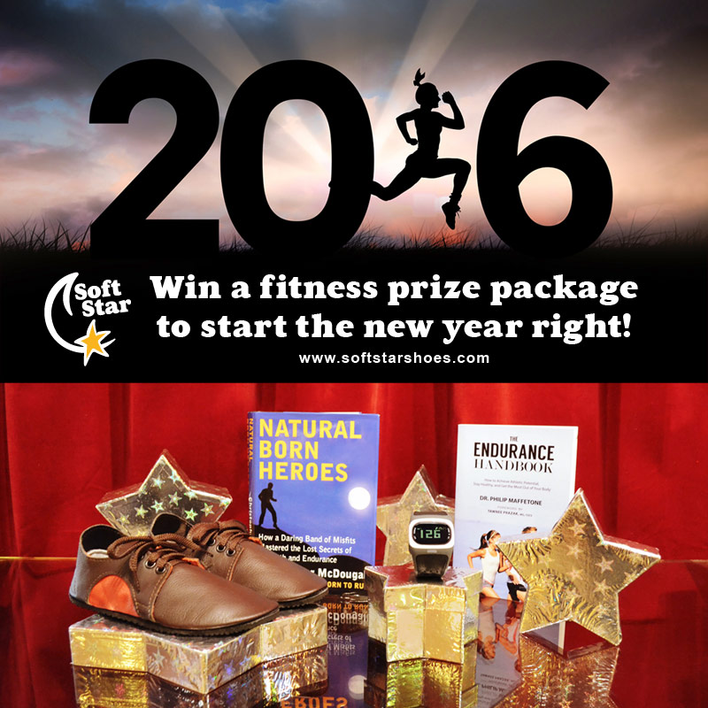 Win a fitness prize package, including heart rate monitor and handmade shoes!