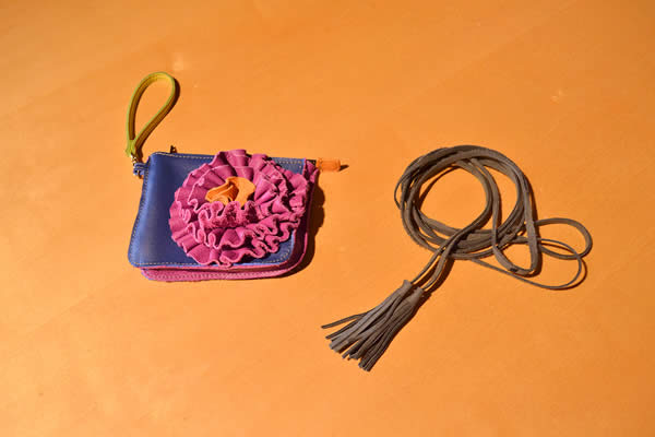 handmade-ruffled-leather-purse-tassel-belt