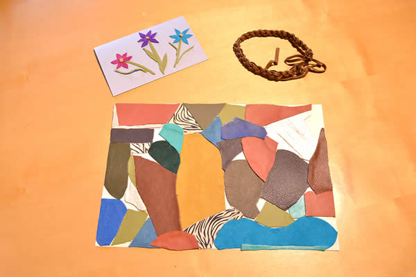 handmade-leather-card-necklace-placemat