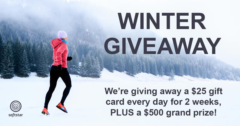Win Every Day with Our 2018 Winter GIVEAWAY