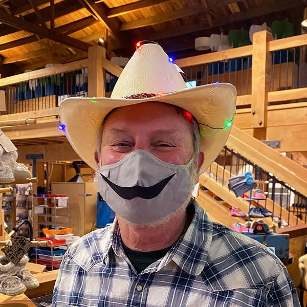 Founder Tim's Cowboy Mustache Mask